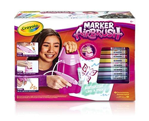 (Crayola–04–8732-e-000–Set Kreative Freizeitbeschäftigungen,–Marker Airbrush–Rosa)