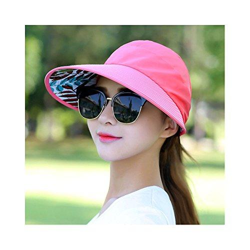 ZREAL Sonnenhut Damen Sonnenschutz UV A Krempe Sonnenschutz Reise, Anguria Rossa