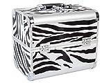 Beauty Koffer DELIGHT Aluminium zebra - Kosmetik-Koffer - Friseur-Koffer - Schmink-Koffer - Nageldesign-Koffer