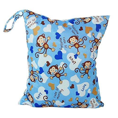 Eizur Baby Wickeltasche 2 Reißverschlüsse Wiederverwendbare Wasserdichter Windeltasche Kleinkind Windel Tasche Organiser Wasserdichtem Tuch Windel 30 * 36 cm, 9 Typen Optional