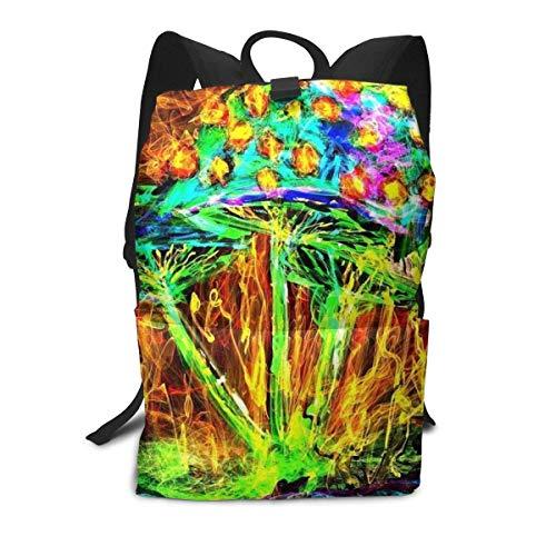 Psychedelic-Trippy-Surreal Backpack Middle für Kinder Jugendliche Schulreisetasche