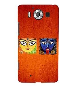 Kali Bhajan Maa Kali Kolkatta Wali 3D Hard Polycarbonate Designer Back Case Cover for Nokia Lumia 950 :: Microsoft Lumia 950