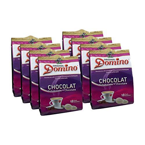 8x DOMINO Kaffeepads Schokolade (á 18 Pads)