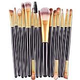 Makeup Kosmetik Pinsel Xinan 15 Stk/Sets Augenschatten Fundament Augenbrauen Lippe Pinsel Make-up Pinselwerkzeug (, Schwarz)