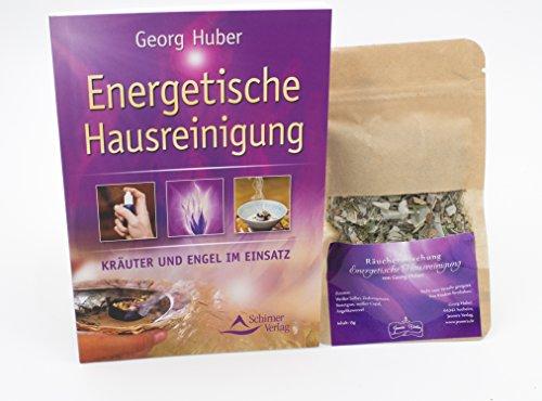 Preisvergleich Produktbild Räucherset Energetische Hausreinigung - Buch mit Räuchermischung Energetische Hausreinigung -15g von Georg Huber
