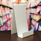 EPOSGEAR 10Stück XL Extra Groß, Weiß Plexiglas Acryl Kunststoff Book Retail Display Ständer Halter–Perfekt für Bücher, Teller, Handys, Tablets etc. in Shops oder zu Hause.