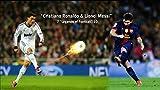 Canvas canvas35Lionel Messi y Cristiano Ronaldo F.C. Barcelona Real Madrid de fútbol A1tamaño Brillante Póster de 33x 24Inch, Lona,, 62x 0,5x 92cm