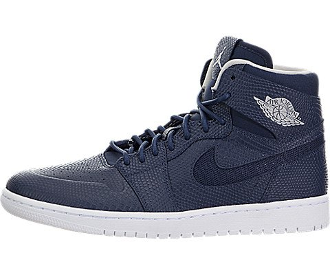 Nike Herren Air Jordan 1 Retro High Nouv Basketballschuhe, Azul Marino (Mid NVY/Lght Bn-White-Infrrd 2), 44 EU - 2 Mid Skate Schuhe