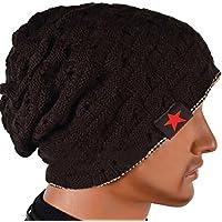 Molly Uomo Berretto In Maglia Reversibile Largo Cappello
