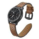 Aottom Correa Reloj Gear S3 22mm Cuero, Correa Samsung Gear S3 Frontier, Correas Galaxy Watch 46mm Correas Samsung Gear S3 Classic Reemplazo de Pulseras de Repuesto de Hebilla Acero Inoxidable Strap