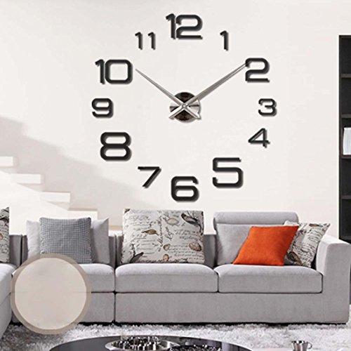 Diy Einzigartige Kostüme (KHSKX Acrylspiegel Wanduhr, Kunst, DIY Uhr, stilvolles Ambiente-Uhren, Geschenke, Anhänger, Wohnzimmer, Schlafzimmer, Studie, Kinder Hobbys ,)
