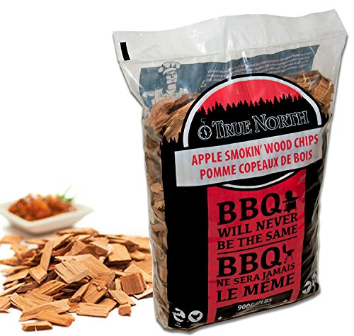Canadian Pure and Simple APPLE smoking/smoker wood chips - for Smokers, BBQ's, Ovens, Smoking tins : 900g