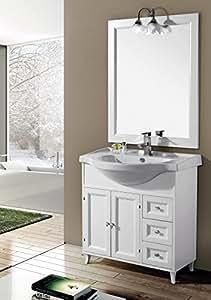 Europrimo mobile da bagno con lavabo e specchio ilaria 85 for Amazon arredo bagno