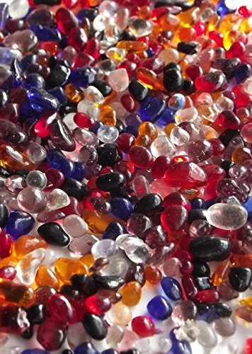 100g Glass Mini Mosaic Droplets MIXED COLOURS 3-6mm