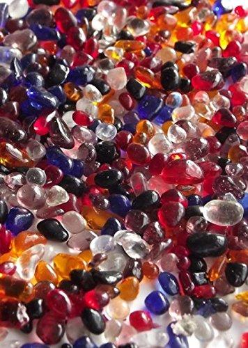 250g Glass Mini Mosaic Droplets MIXED COLOURS 3-6mm