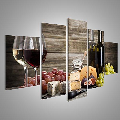 Quadri moderni Vino e formaggio still life Stampa su tela - Quadro ...