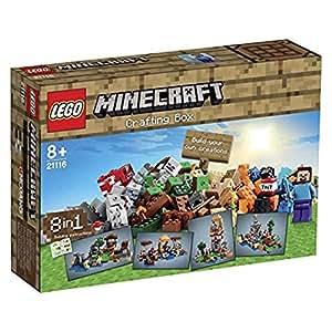 lego 21116 la bo te de construction minecraft jeux et jouets. Black Bedroom Furniture Sets. Home Design Ideas