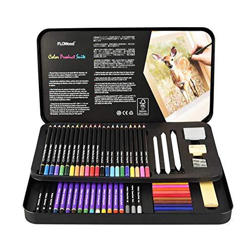 uarell Bleistift Art Set,Skizzieren und Zeichnen Art Set mit Farbstifte Aquarellstifte Skizzieren Bleistifte,Professionell Aquarell Bleistift Art Set für Färbung Aquarellmalerei ()