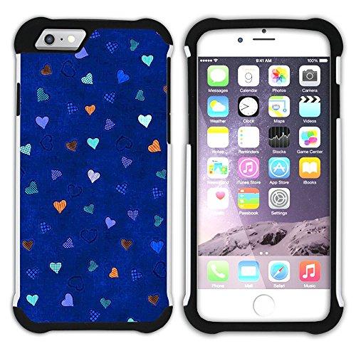 Graphic4You TV Vector Art Muster Design Hart + Weiche Kratzfeste Hülle Case Schale Tasche Schutzhülle für Apple iPhone 6 Plus / 6S Plus Design #10