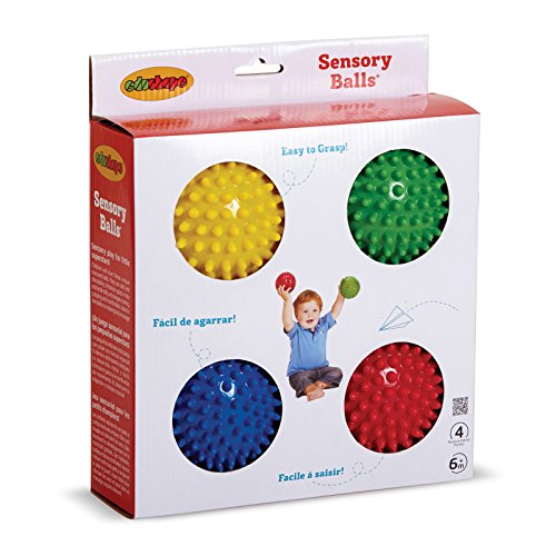 Edushape - Bolas sensoriales (10 cm, 4 unidades), varios colores