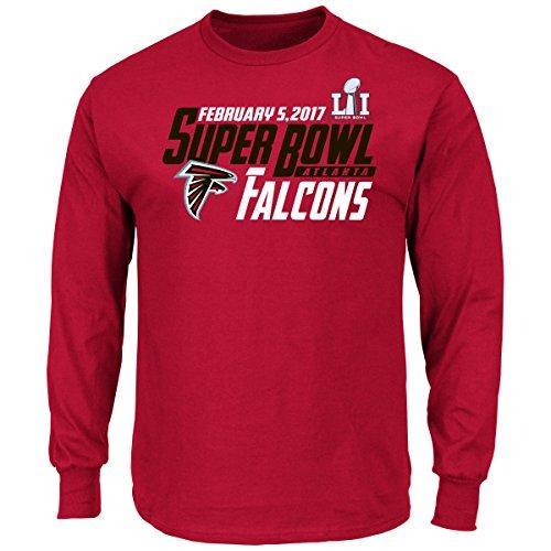 atlanta-falcons-majestic-nfl-super-bowl-li-51-hash-mark-l-s-mens-t-shirt-camicia