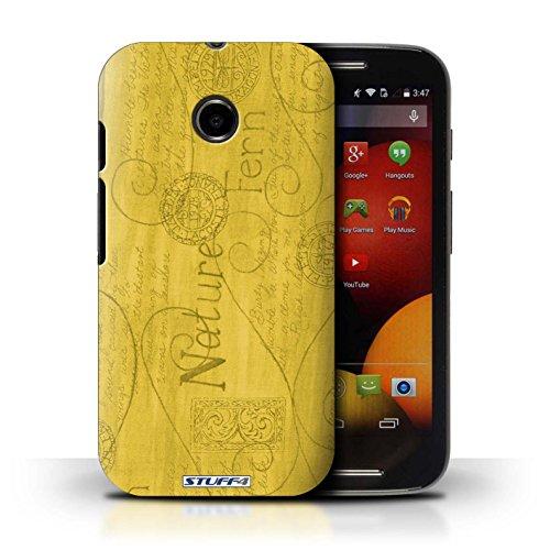 Kobalt® Imprimé Etui / Coque pour Motorola Moto E (2014) / Rose conception / Série Motif Nature Jaune