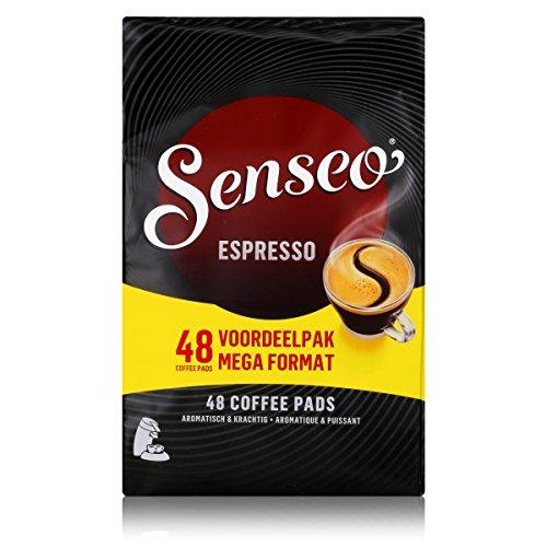 Senseo Kaffeepads Espresso, Intensiver und Belebender Kaffee, 48 Pads