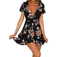 VENMO Vestidos Vestidos Mujer, Fiesta Cortos de V culleo Mujer,Vestido de Playa Irregular