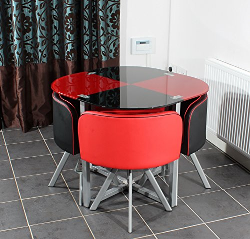 Charles Jacobs Space Saver Dining Table with Four Chair