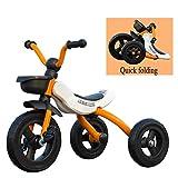 Toy house Kids Trikes con Funzione Pieghevole Triciclo Bici A 3 Ruote da, 2 A 6 Anni (Taglia: 90-120 / CM), Scuderia per Bambini,Yellow