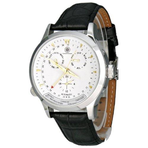 Constantin Durmont Hudson - Reloj analógico de caballero automático con correa de piel negra - sumergible a 30 metros