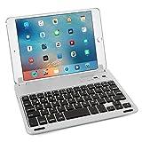 Caseflex Ultra Dünn Bluetooth Tastatur mit magnetischer Halterung & verstellbarem Haltstand für iPad Mini, Mini 2 & Mini 3