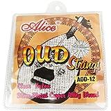 Musiclily Alice Nylon y Plata Juego de cuerdas Wound Oud de 12cuerdas (10unidades)