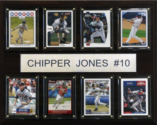 MLB Chipper Jones Atlanta Braves 8 Karte Plaque (Jones Braves Atlanta Baseball Chipper)