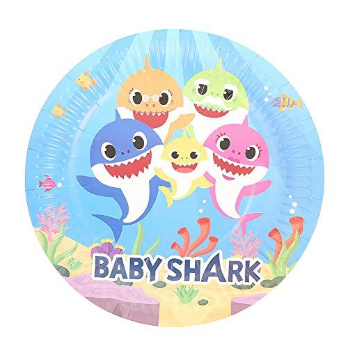n Shark Isposable Geschirr Pappteller Geburtstags-Party-Baby-Duschen-Mädchen-Jungen-Thema-Geburtstags-Party Supplies ()