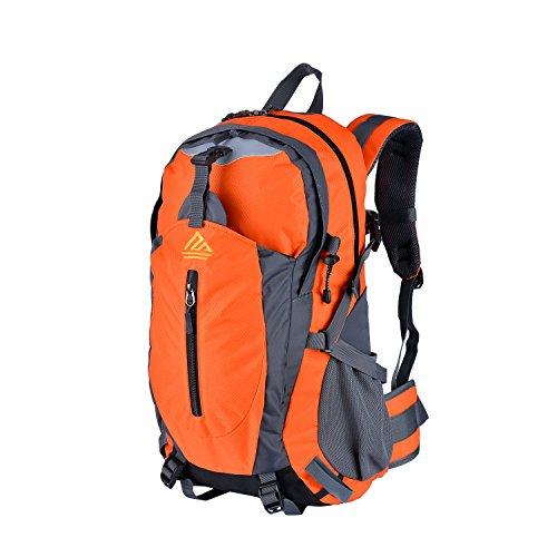Imagen de naturefun 40l  ligera daypack resistente al agua bolsa de trekking para camping, senderismo, escalada naranja