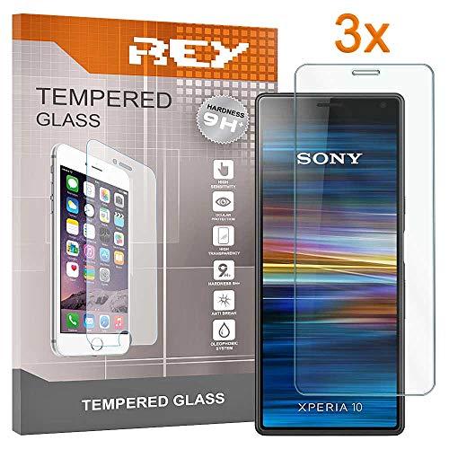 [Lot de 3] Verre Trempé pour Sony Xperia 10, Protecteur d'écran qualité supérieure, Électronique Roi®