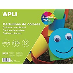 APLI 14483 - Bloc de cartulinas surtidas 32 x 24 cm 10 hojas