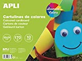 APLI 14483 - Bloc cartulinas 32x24 10 hojas, colores surtidos