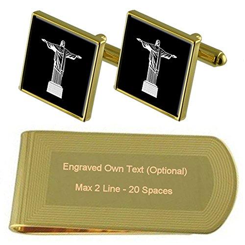 Select Gifts Christus Erlöser Gold-Manschettenknöpfe Geldscheinklammer Gravur Geschenkset - Chrysler-geld-clip