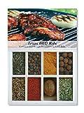 Texas BBQ Ribs – 8 Gewürze Set für texanische Grill-Ribs (43g) – in einer schönen Holzbox – mit Rezept und Einkaufsliste – Geschenkidee für Männer und Feinschmecker von Feuer & Glas