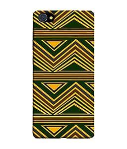 PrintVisa Designer Back Case Cover for Vivo X7 Plus (Green yellow hard back cover )