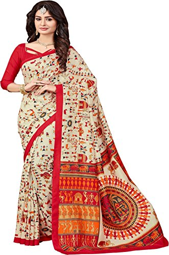 saree (Women\'s Clothing Saree For Women Latest Design Wear Art Silk Cotton Sarees Collection in Quality Material Latest Saree With Designer Blouse Free Size Beautiful Bollywood Saree For Women Party