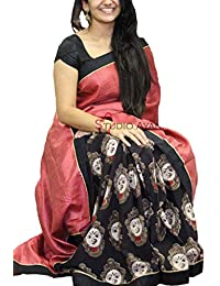 Women's Cotton Silk (Zarna Style ) Saree With Blouse Piece