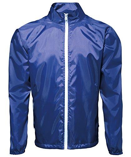2786 Mens Contrast Lightweight Showerproof Jacket Royal/ White