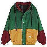 Amphia Damen Übergangsjacke Ladies Basic Pull-Over Jacket, Leichte Streetwear Schlupfjacke, Windbreaker Überziehjacke und Herbst (Wein, S)