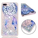 BONROY Coque, Etui Housse Liquide Crystal Coque Transparente Silicone TPU Case Cover Bling Glitter Sparkle Briller Quicksands pour iPhone 6 Plus/6S Plus-(Carillon éolien TPU-Dream)