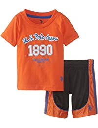 U.S. POLO ASSN. Bebé Niños 't shirt y malla Athletic Short Set