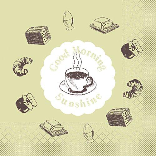 Home Frühstück (Sovie HOME Tissue Serviette Sunshine | saugstark | Ideal für Frühstück Buffet und Café | 33x33 cm | 20 Stück)