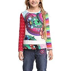 Desigual 47T301610204 - Camiseta de manga larga para niña, color hielo 1020, talla 4 años (104 cm)